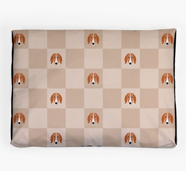 Checkerboard Icon Pattern Dog Bed for your Saluki