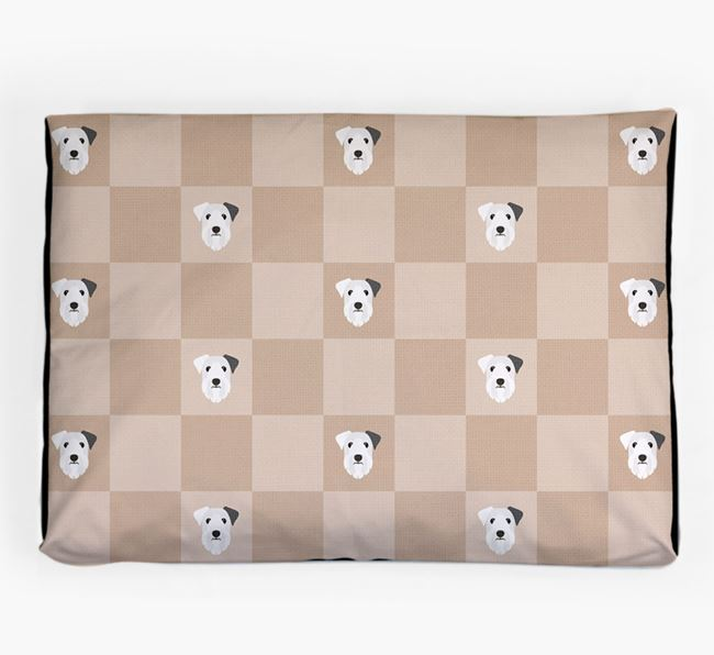Checkerboard Icon Pattern Dog Bed for your Sealyham Terrier
