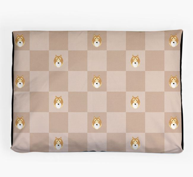 Checkerboard Icon Pattern Dog Bed for your Shetland Sheepdog