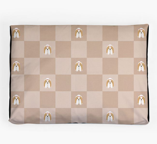 Checkerboard Icon Pattern Dog Bed for your Shih Tzu