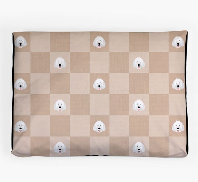 Checkerboard Icon Pattern Dog Bed for your Spanish Water Dog