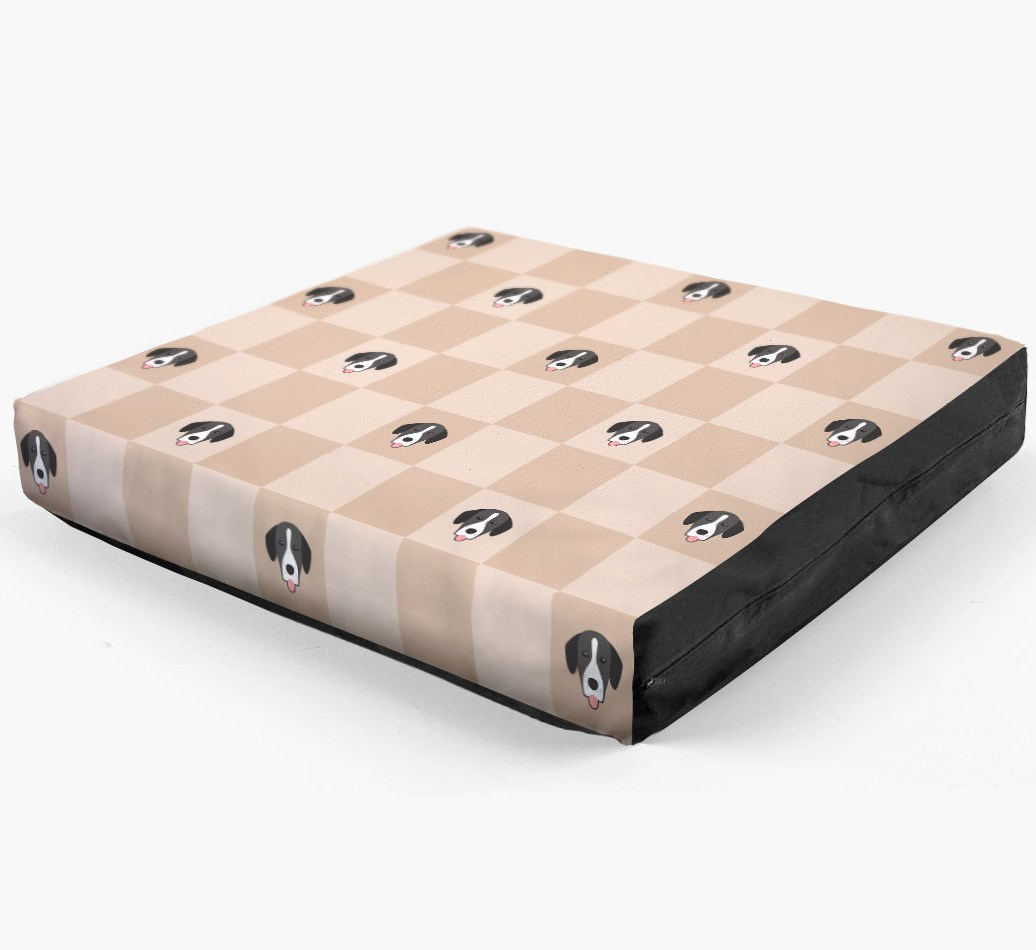 Checkerboard Icon Pattern Dog Bed for your Springador