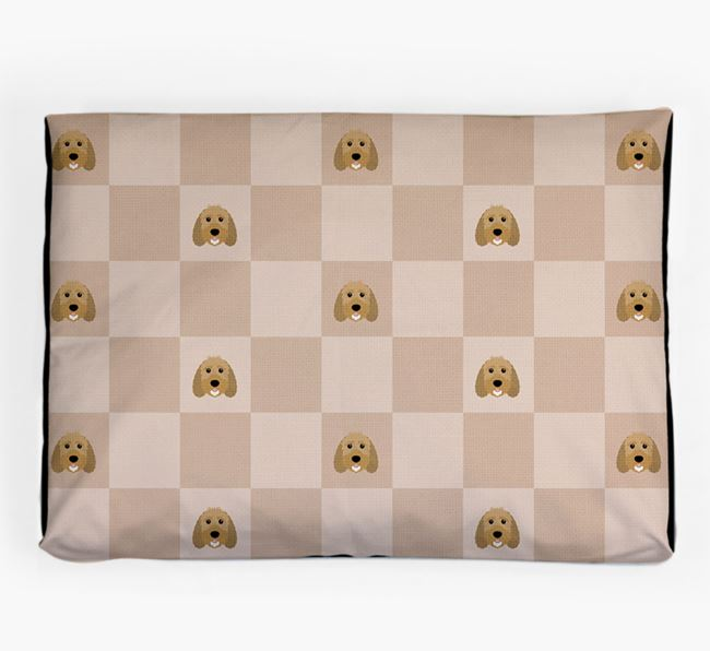 Checkerboard Icon Pattern Dog Bed for your Sproodle