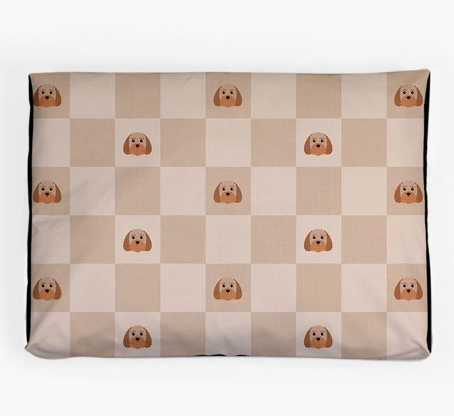 Checkerboard Icon Pattern Dog Bed for your Terri-Poo