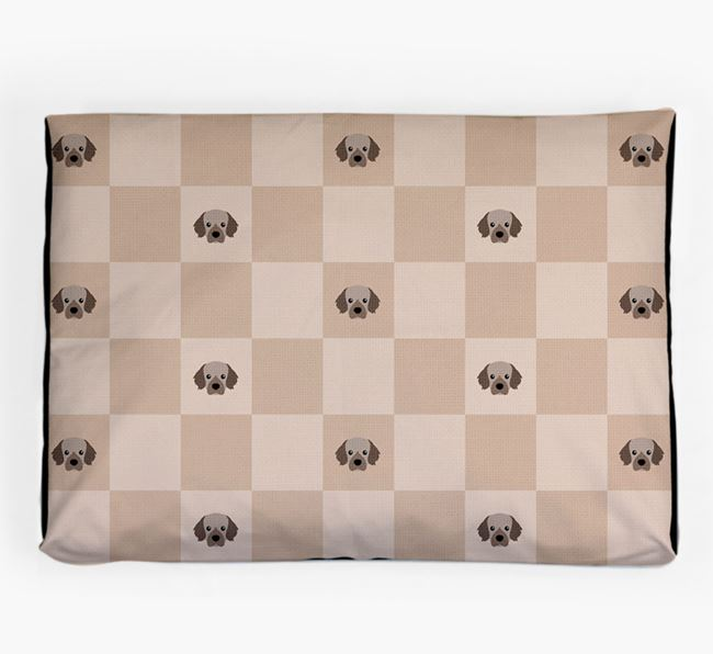 Checkerboard Icon Pattern Dog Bed for your Tibetan Spaniel