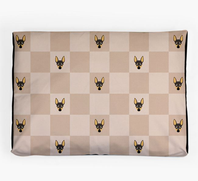 Checkerboard Icon Pattern Dog Bed for your Toy Fox Terrier