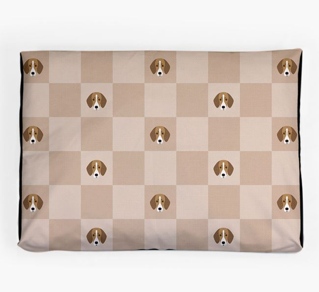 Checkerboard Icon Pattern Dog Bed for your Trailhound