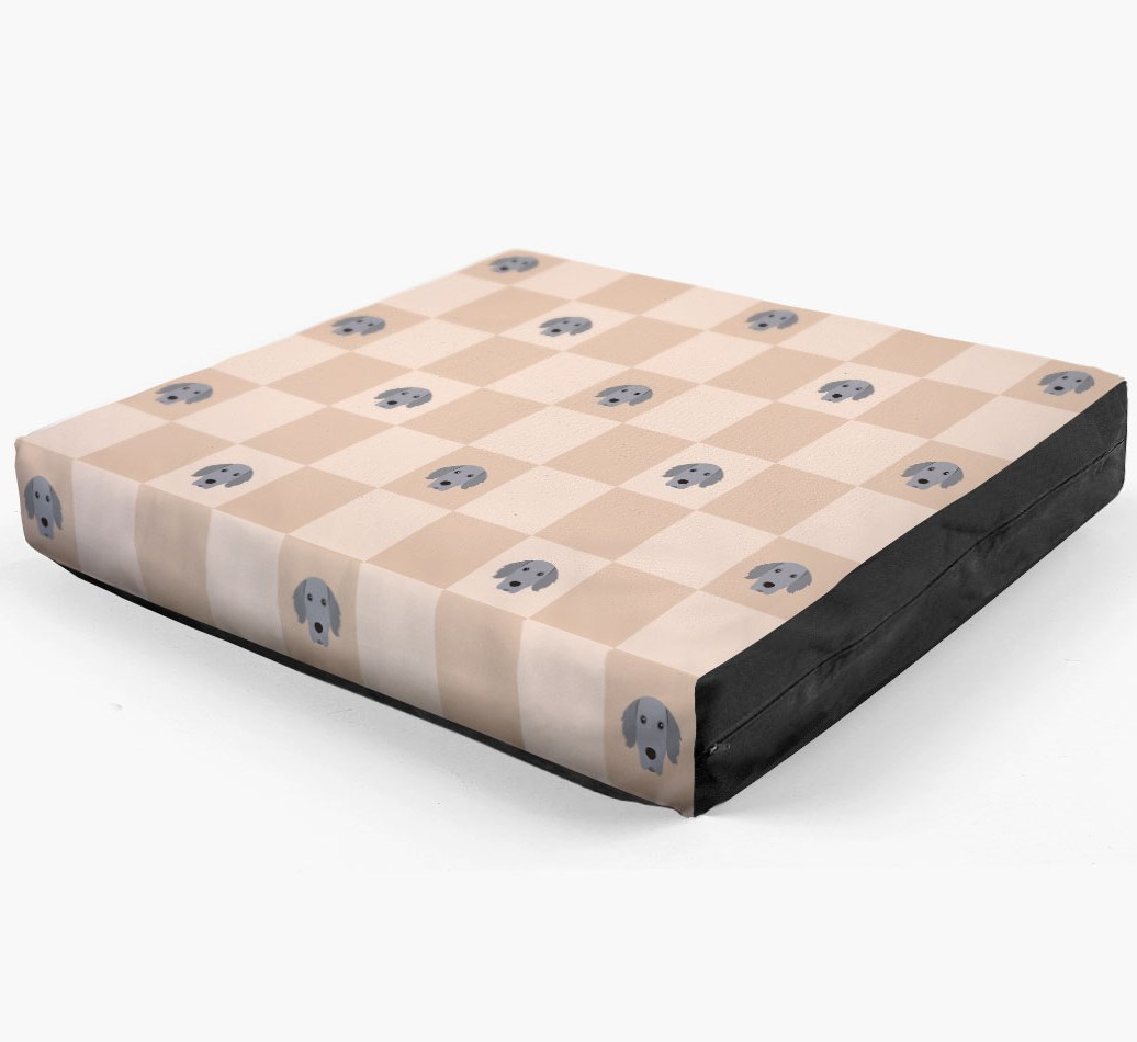 Checkerboard Icon Pattern Dog Bed for your Weimaraner