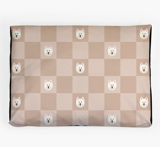 Checkerboard Icon Pattern Dog Bed for your West Highland White Terrier