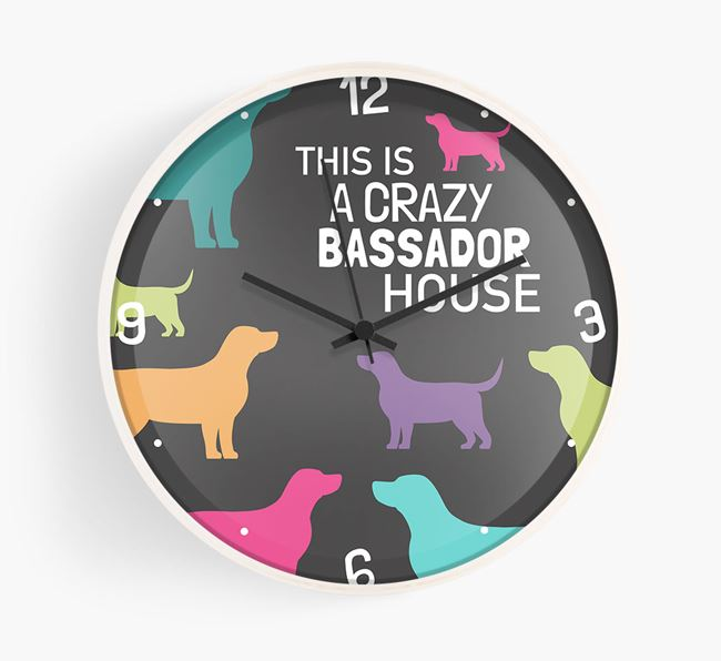 'This is a crazy Bassador House' Wall Clock