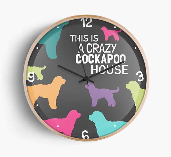 'This is a crazy Dog House' Wall Clock