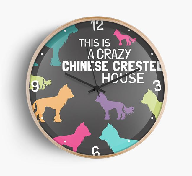 'This is a crazy Chinese Crested House' Wall Clock