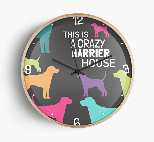 'This is a crazy Harrier House' Wall Clock