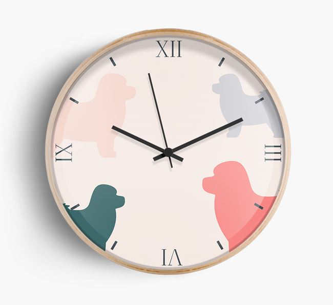Bolognese Silhouette Pattern Wall Clock