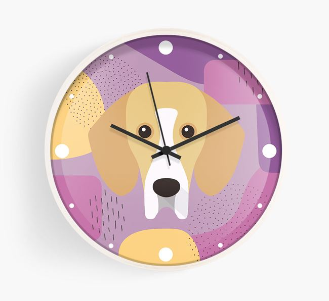 'Abstract' - Personalised Wall Clock with Bassador Icon