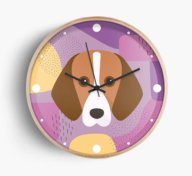 Abstract {dogsName} Icon Wall Clock