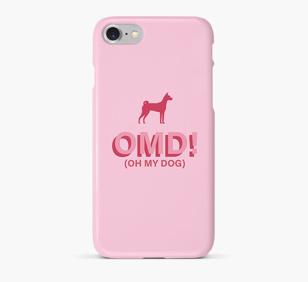 'Oh My Dog!' Phone Case with Basenji Silhouette