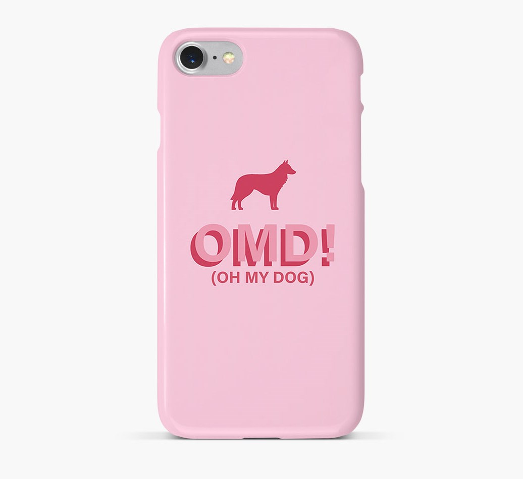 'Oh My Dog!' Phone Case with Belgian Shepherd Silhouette
