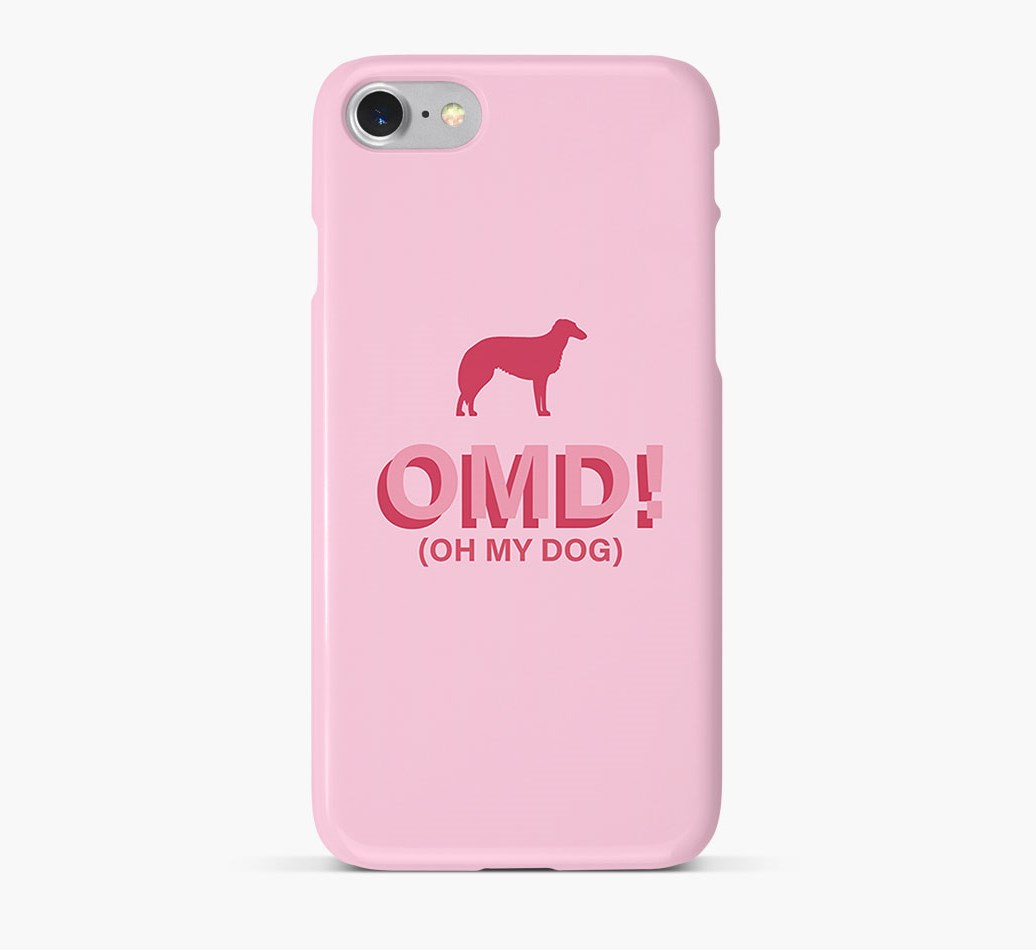 'Oh My Dog!' Phone Case with Borzoi Silhouette