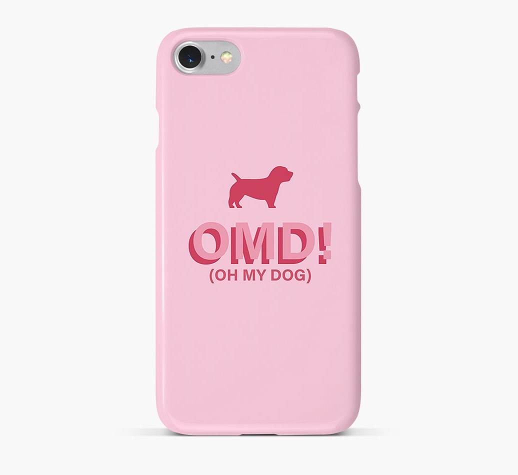 'Oh My Dog!' Phone Case with Glen Of Imaal Terrier Silhouette