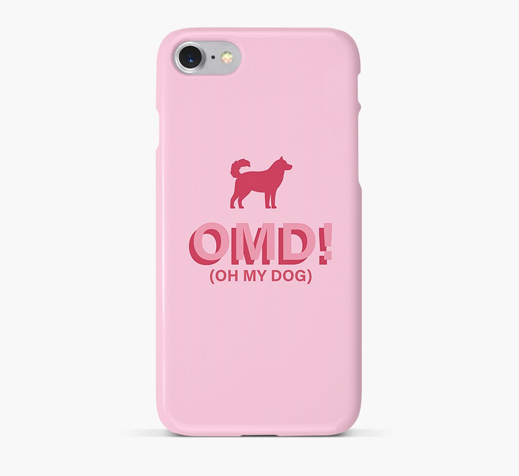 'Oh My Dog!' Phone Case with Goberian Silhouette