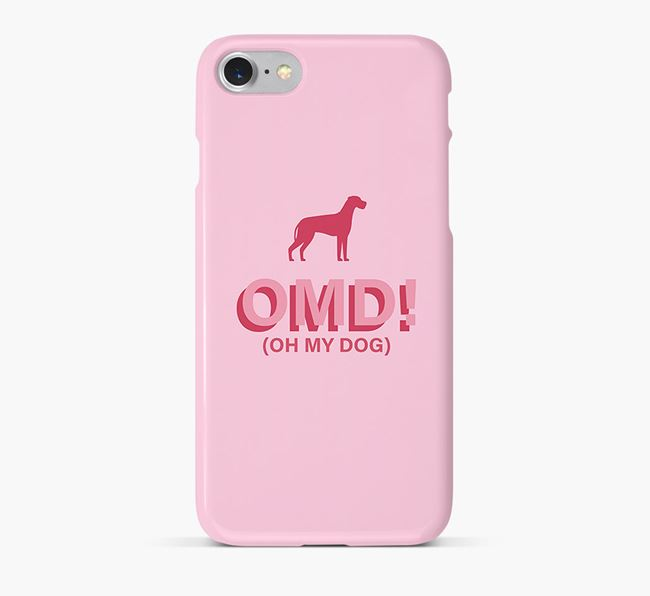 'Oh My Dog!' Phone Case with Great Dane Silhouette