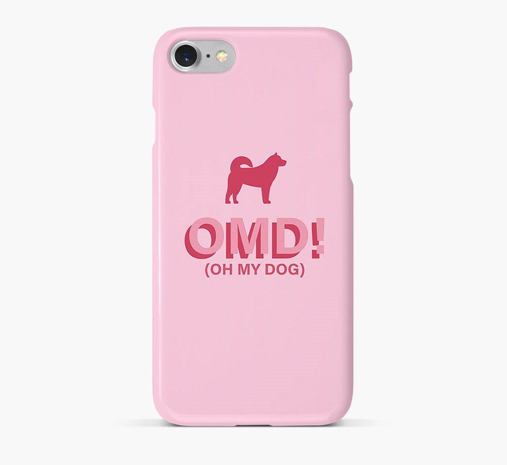 'Oh My Dog!' Phone Case with Greenland Dog Silhouette