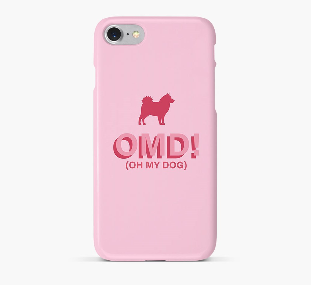 'Oh My Dog!' Phone Case with Icelandic Sheepdog Silhouette