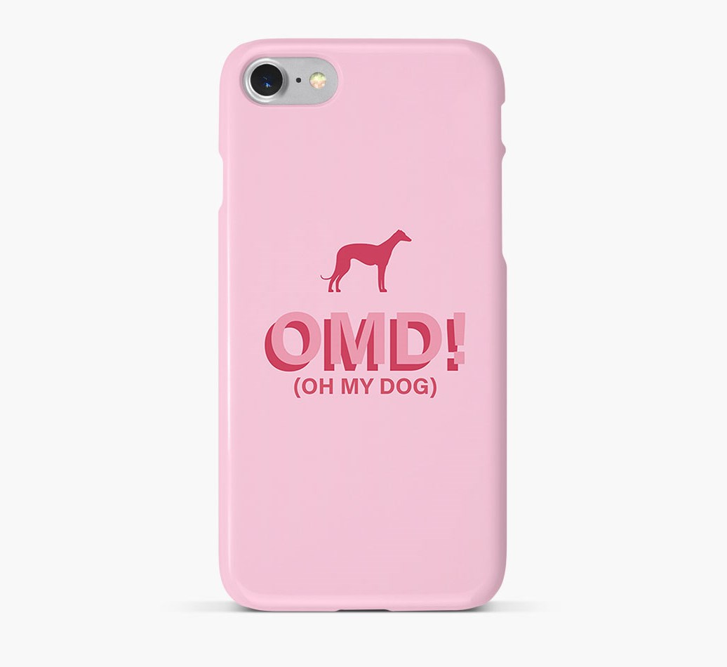 'Oh My Dog!' Phone Case with Italian Greyhound Silhouette