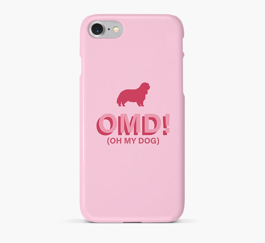 'Oh My Dog!' Phone Case with King Charles Spaniel Silhouette