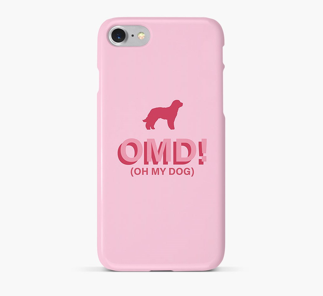 'Oh My Dog!' Phone Case with Labradoodle Silhouette