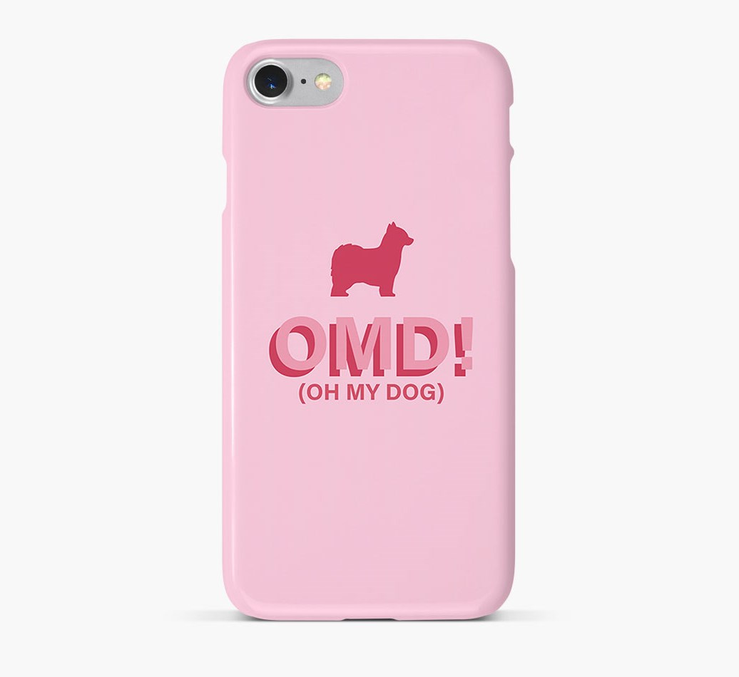 'Oh My Dog!' Phone Case with Powderpuff Chinese Crested Silhouette