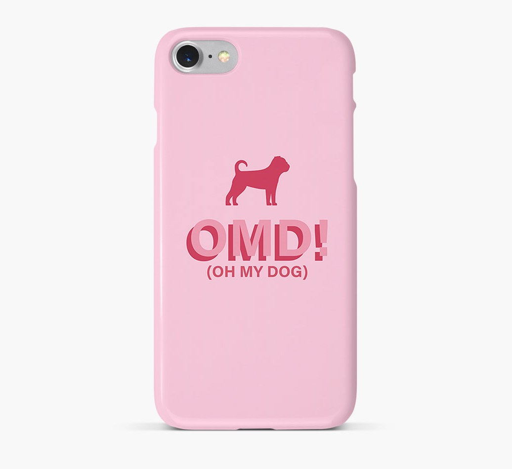 'Oh My Dog!' Phone Case with Puggle Silhouette