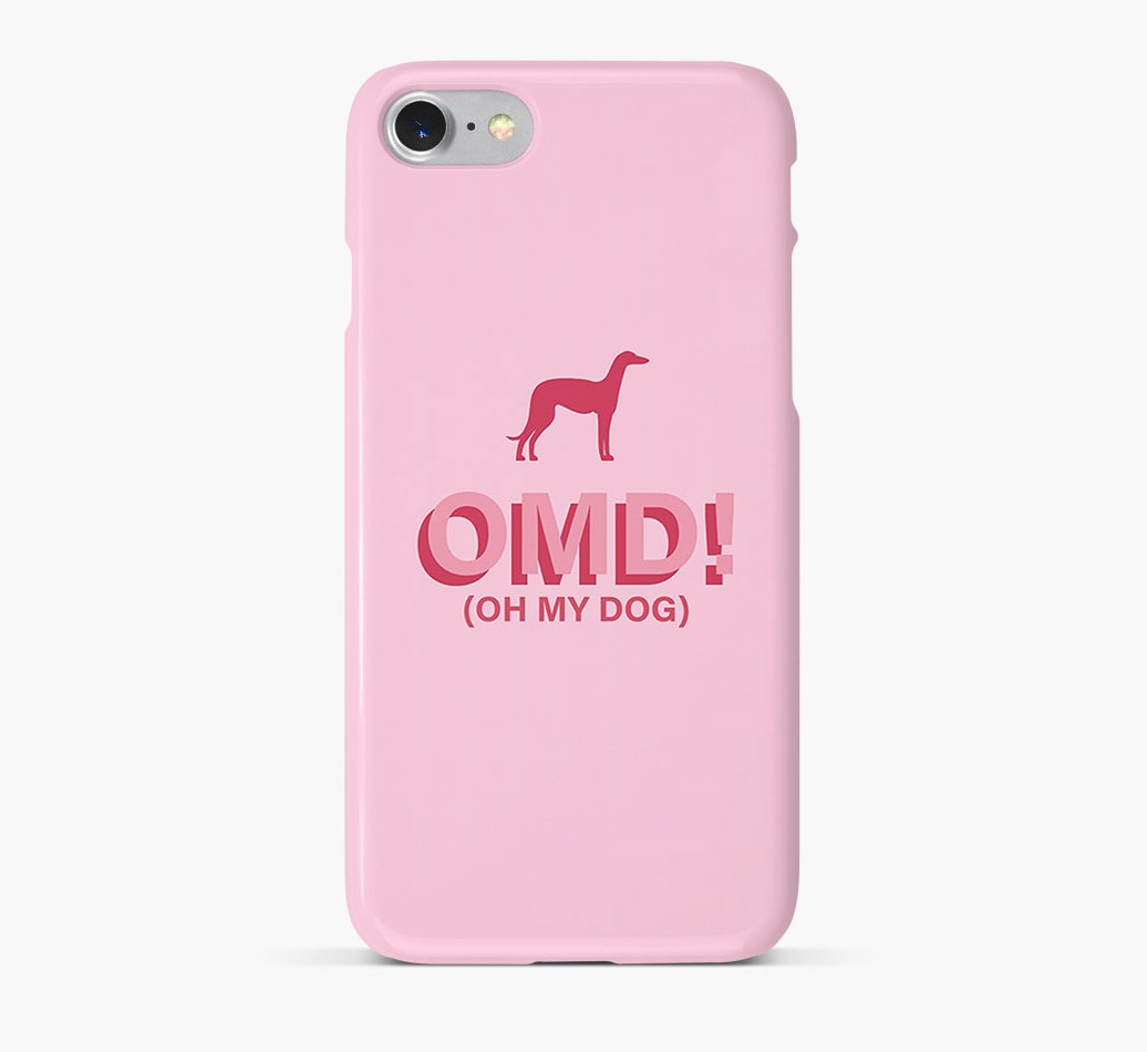 'Oh My Dog!' Phone Case with Saluki Silhouette