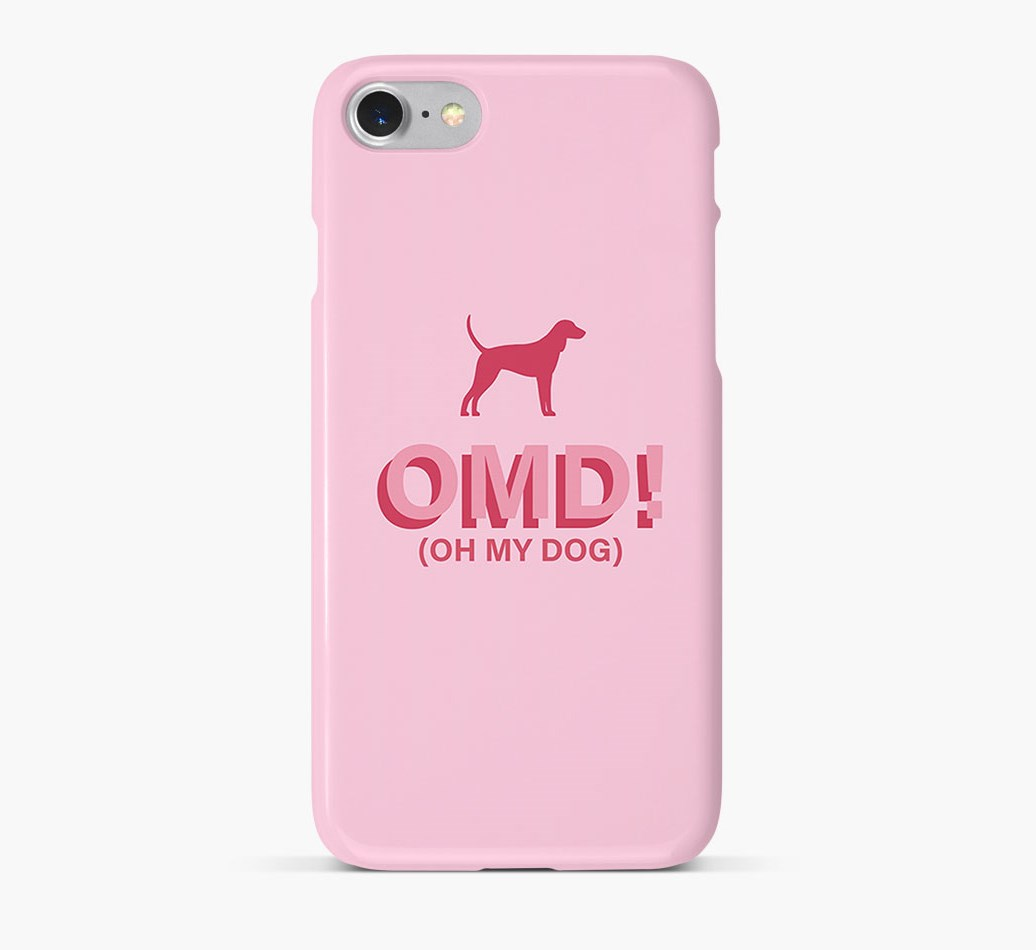 'Oh My Dog!' Phone Case with Segugio Italiano Silhouette
