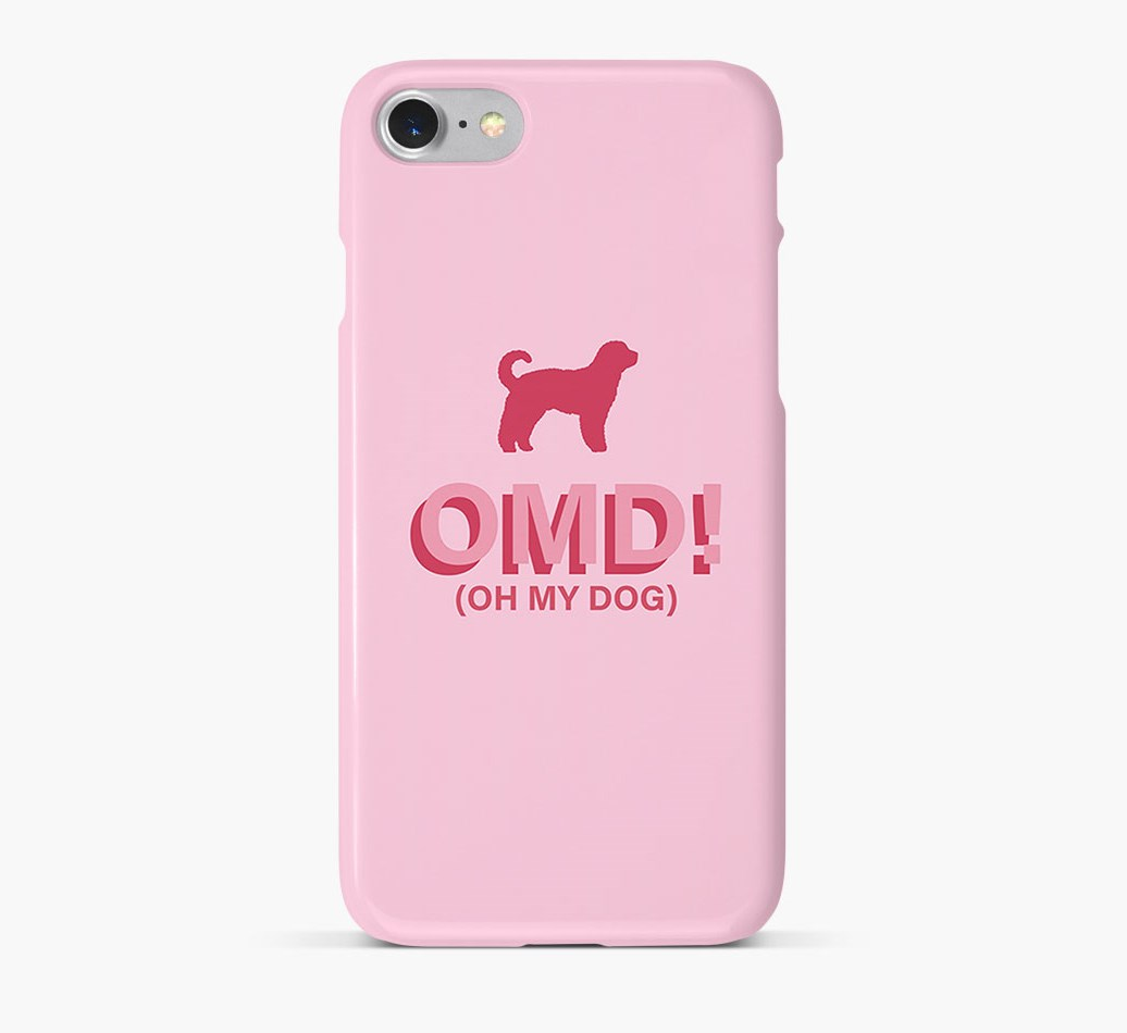 'Oh My Dog!' Phone Case with Sheepadoodle Silhouette