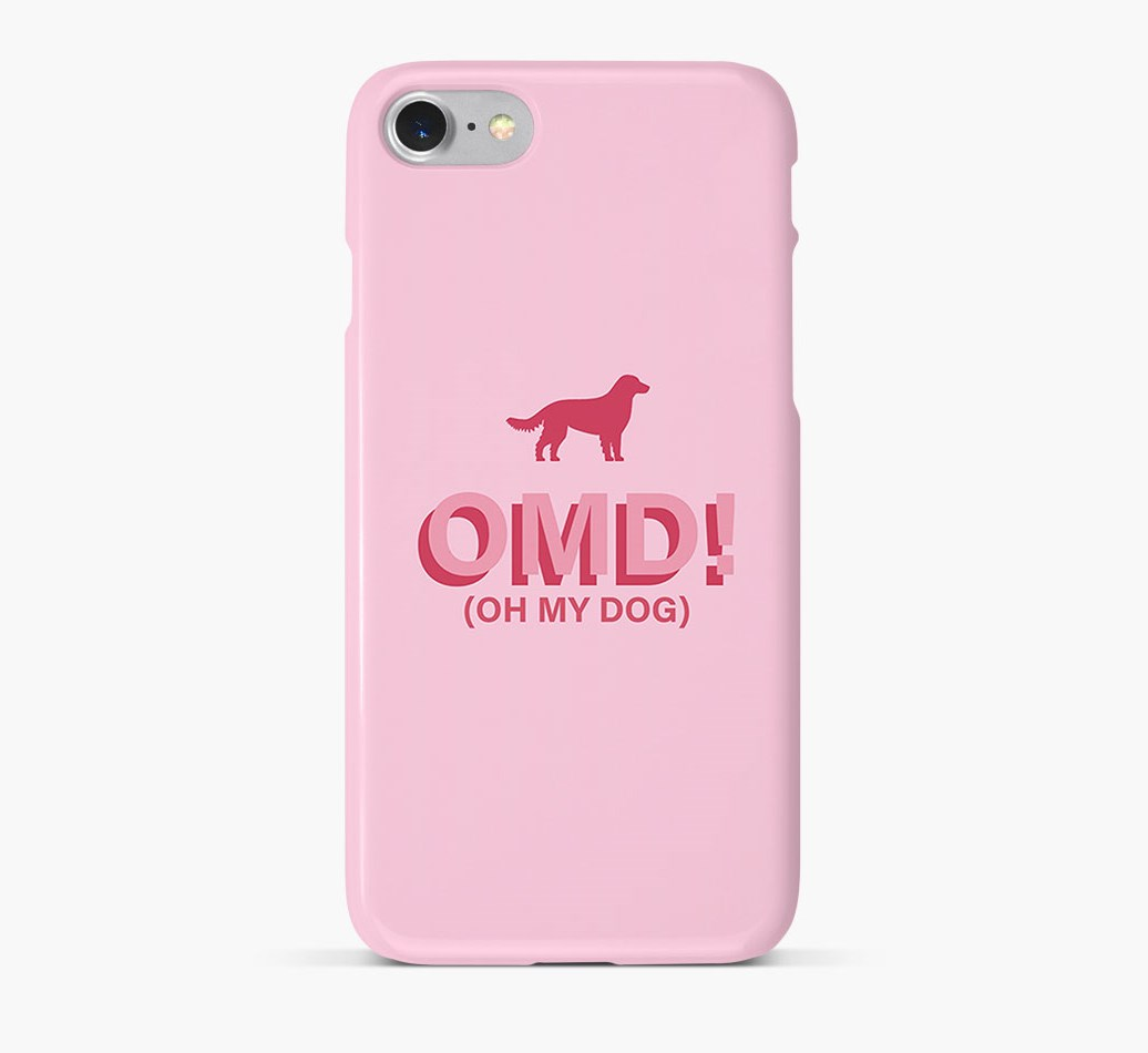 'Oh My Dog!' Phone Case with Small Munsterlander Silhouette