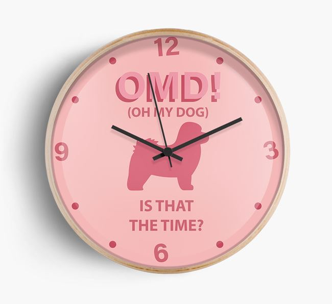 'Oh My Dog!' Wall Clock with Bolognese Silhouette