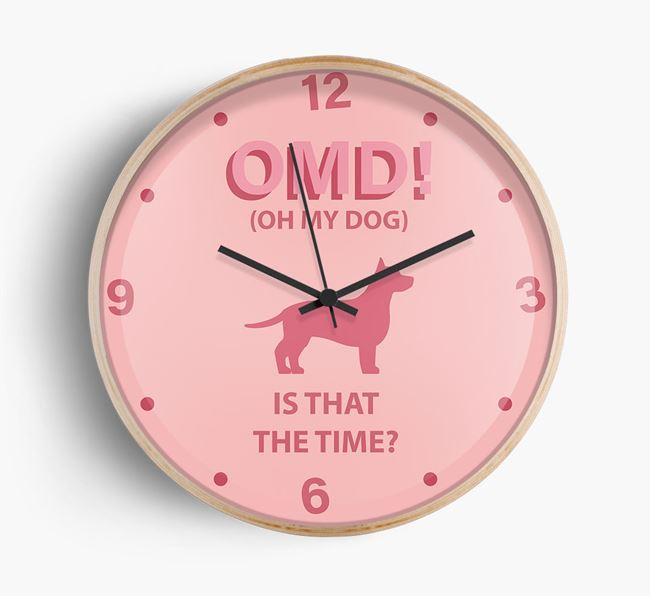 'Oh My Dog!' Wall Clock with Chiweenie Silhouette