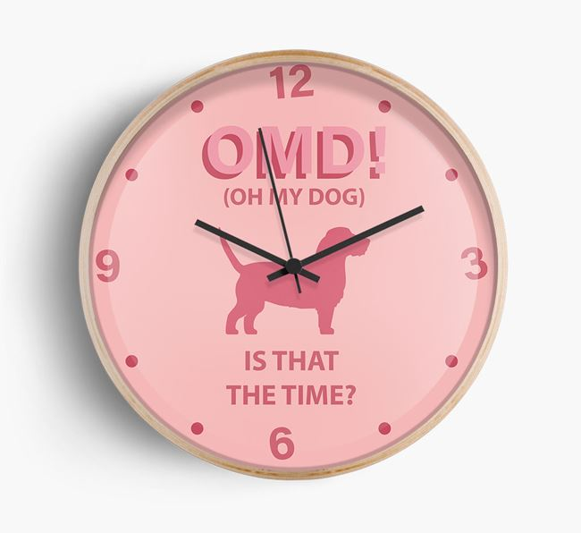 'Oh My Dog!' Wall Clock with Grand Basset Griffon Vendeen Silhouette