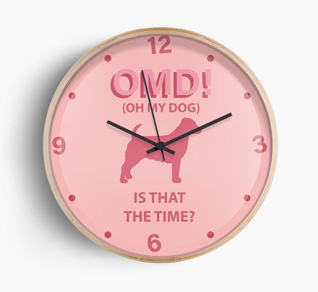 'Oh My Dog!' Wall Clock with Jack-A-Poo Silhouette