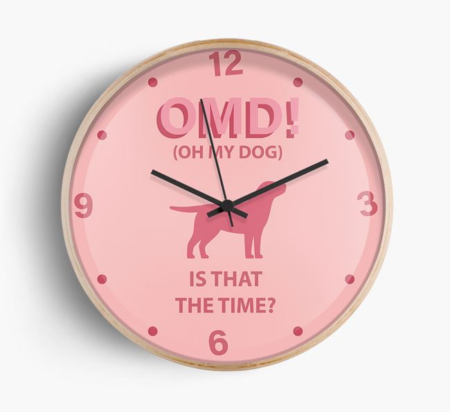 'Oh My Dog!' Wall Clock with Springador Silhouette