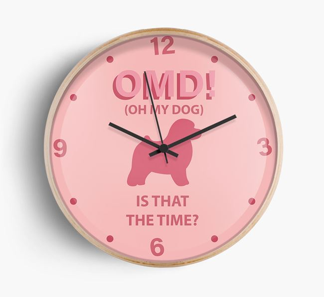 'Oh My Dog!' Wall Clock with Toy Poodle Silhouette