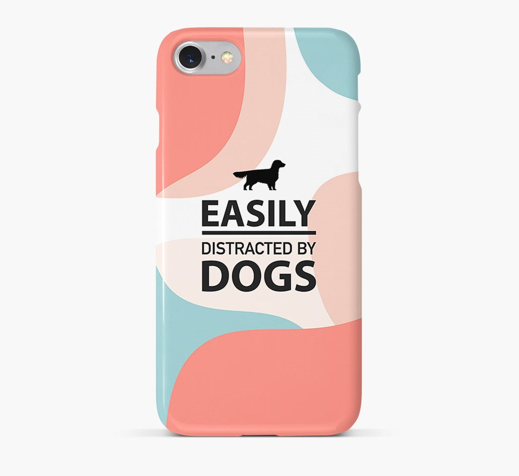 'Easily Distracted By Dogs' Phone Case with Golden Dox Silhouette