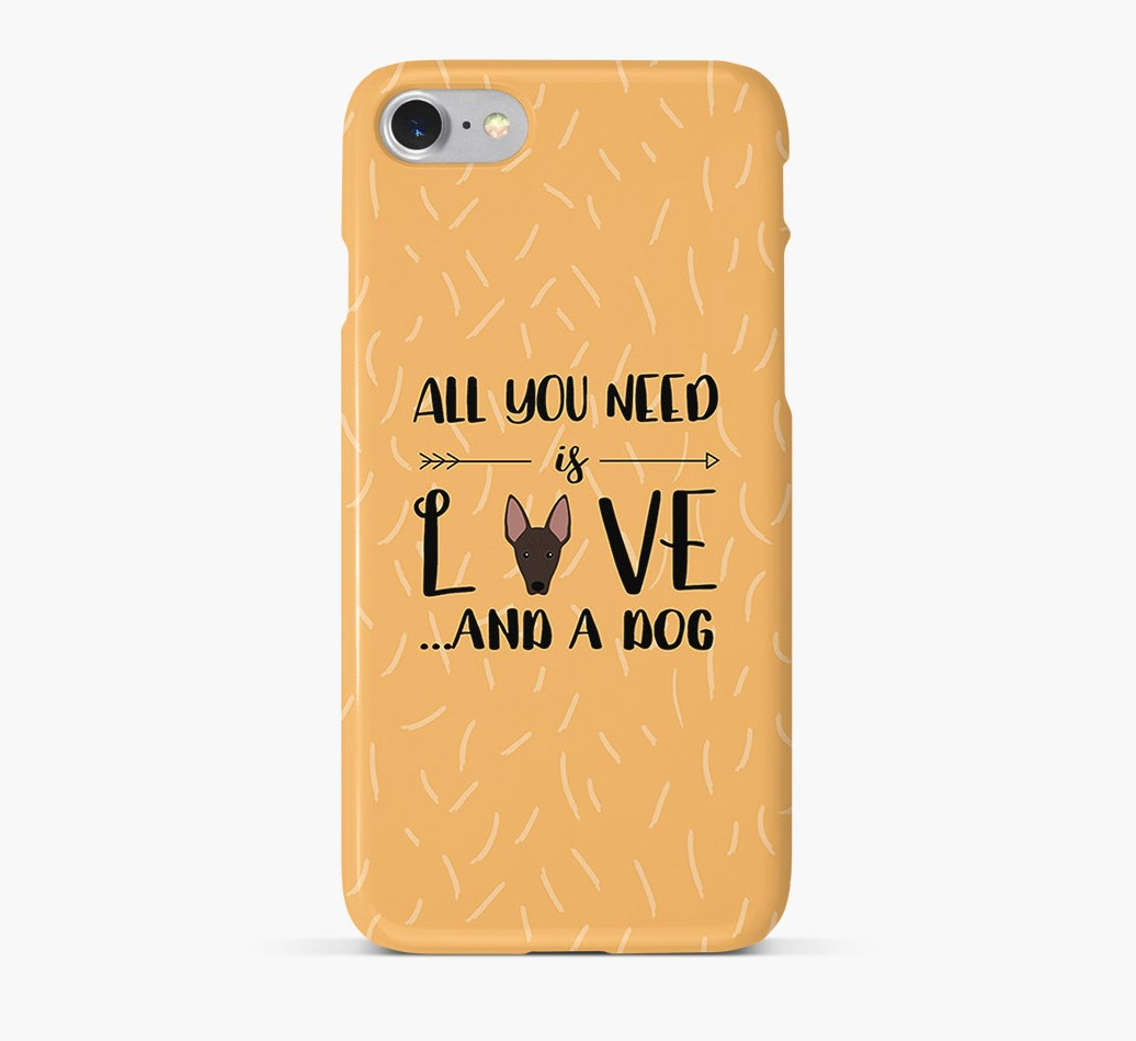 'All You Need is Love' Phone Case with American Hairless Terrier Icon