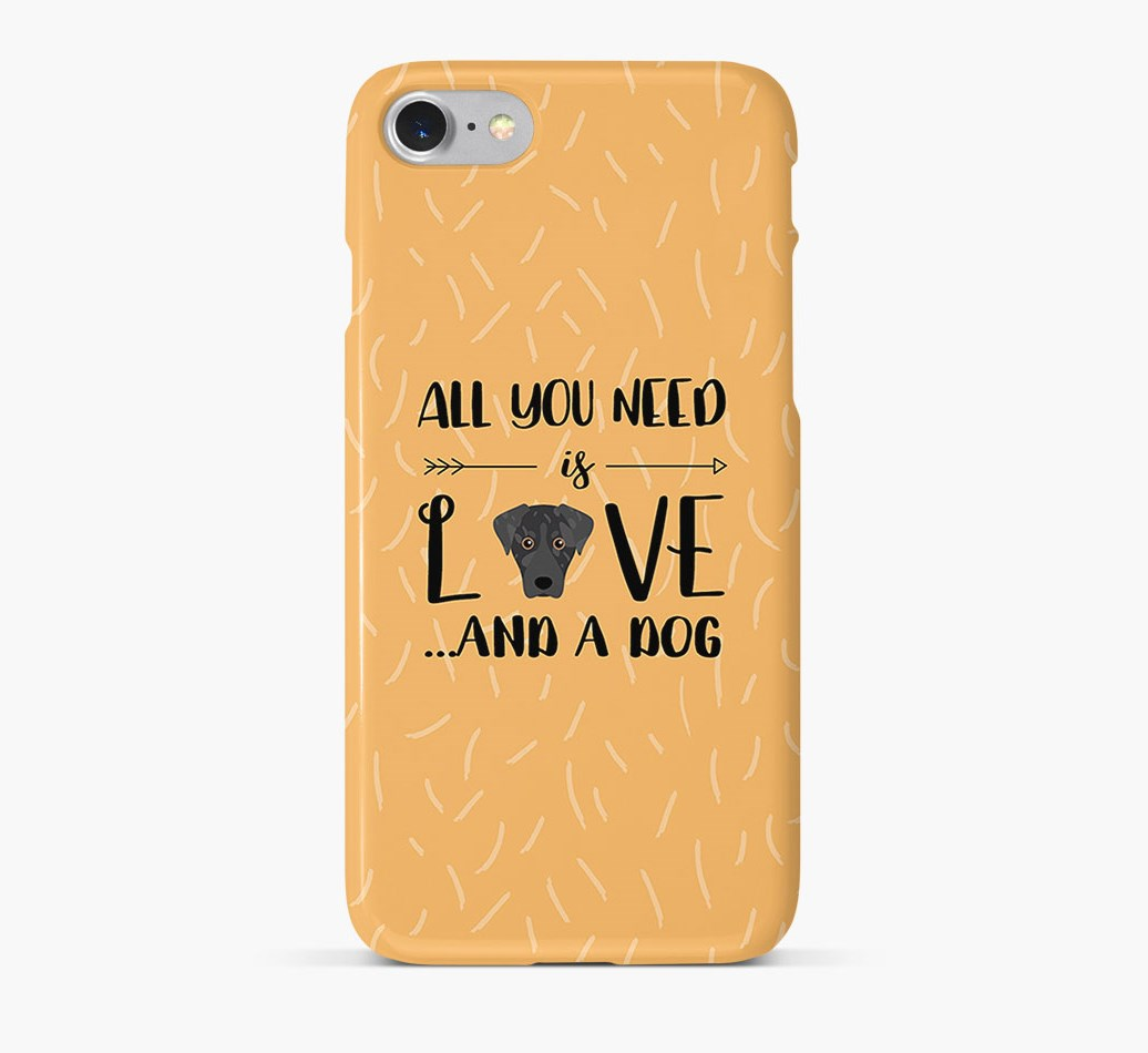 'All You Need is Love' Phone Case with American Leopard Hound Icon