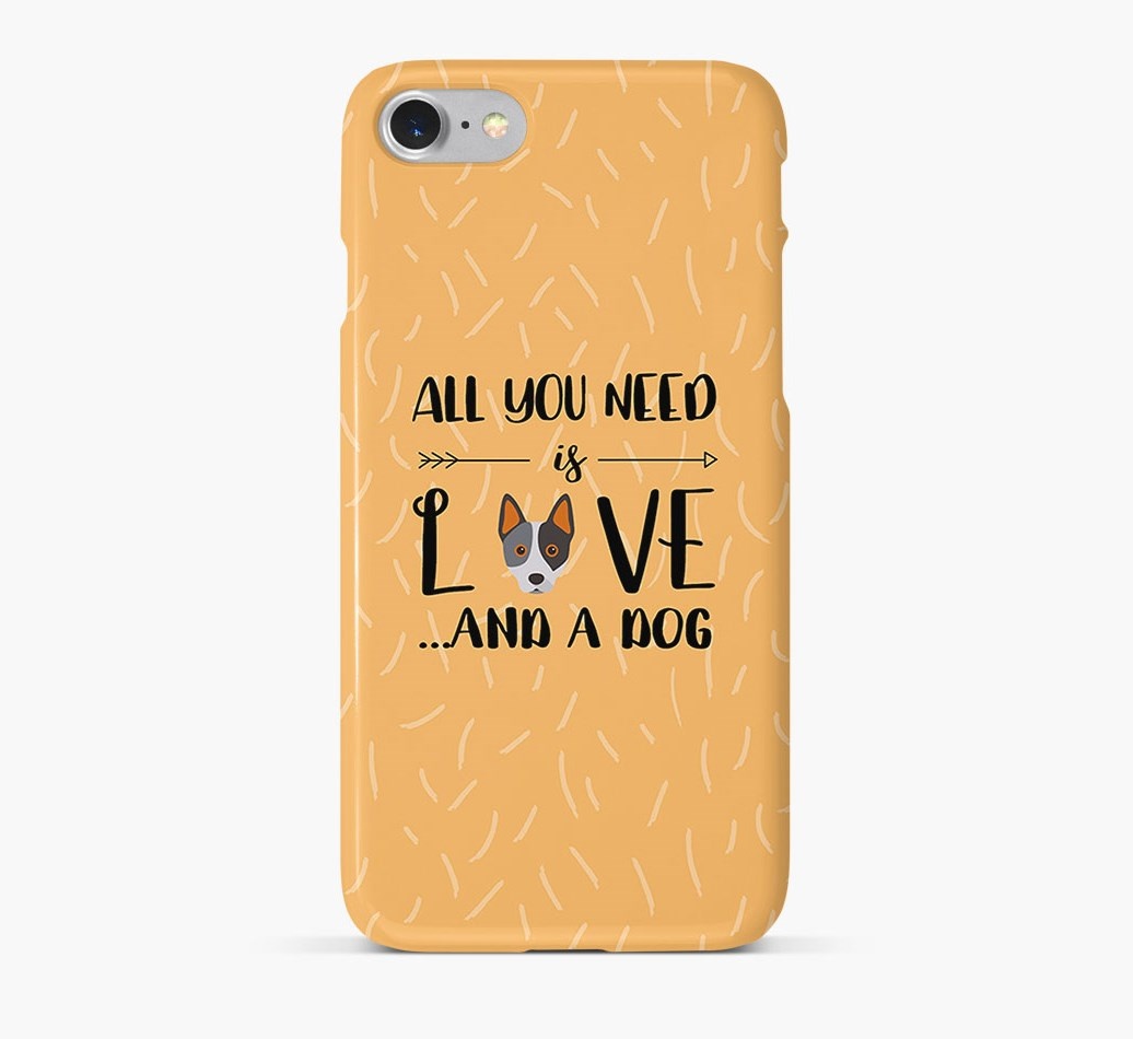 'All You Need is Love' Phone Case with Australian Cattle Dog Icon