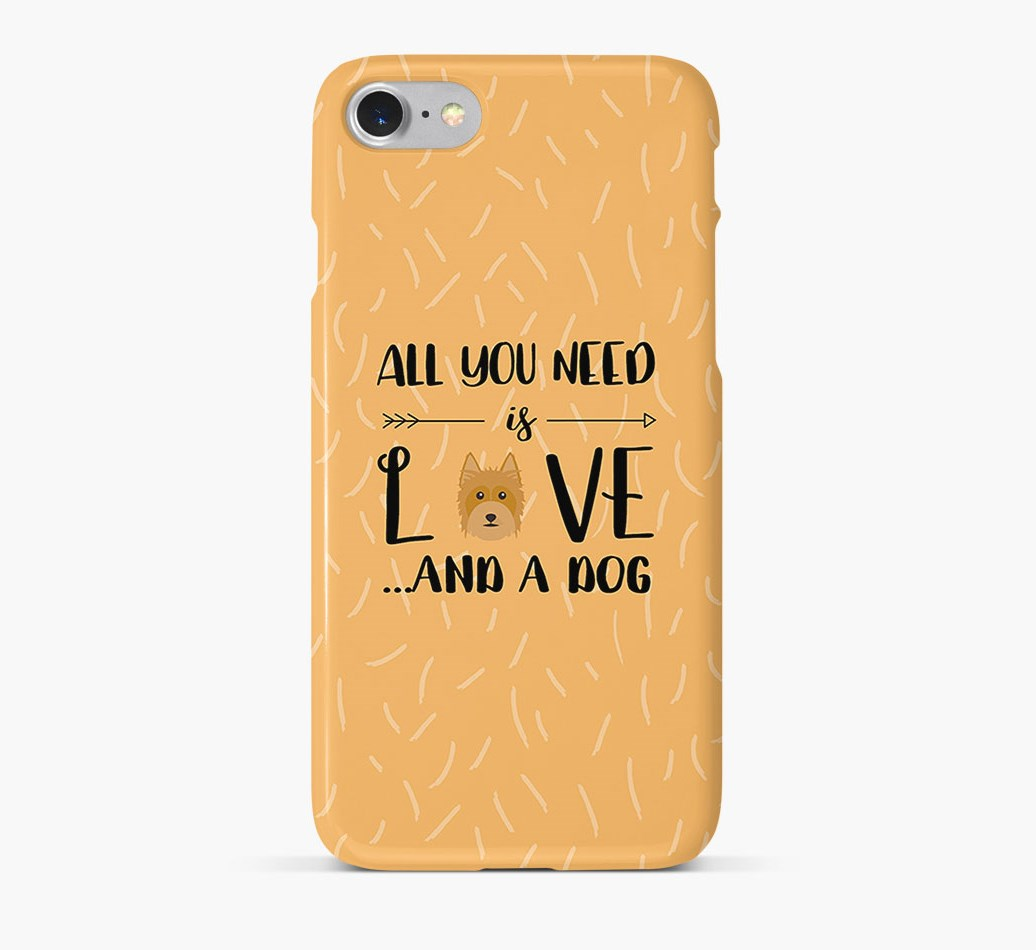 'All You Need is Love' Phone Case with Australian Silky Terrier Icon