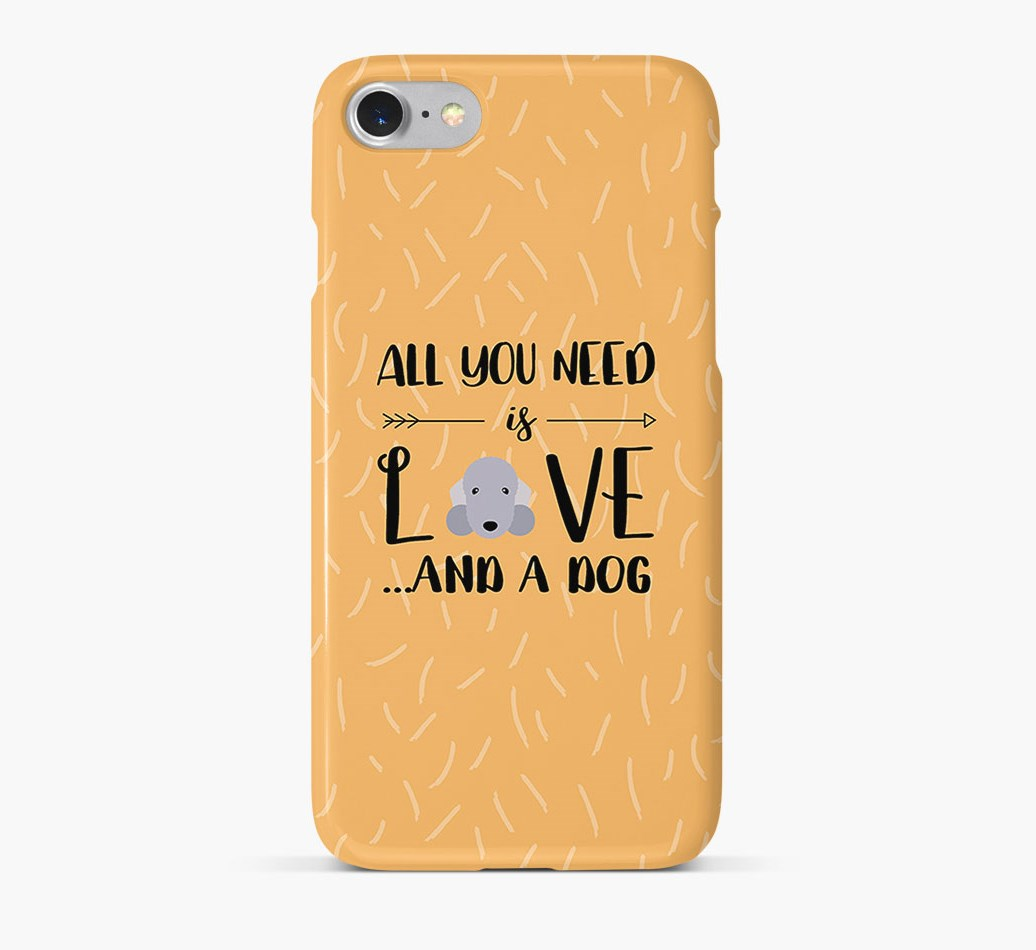 'All You Need is Love' Phone Case with Bedlington Terrier Icon