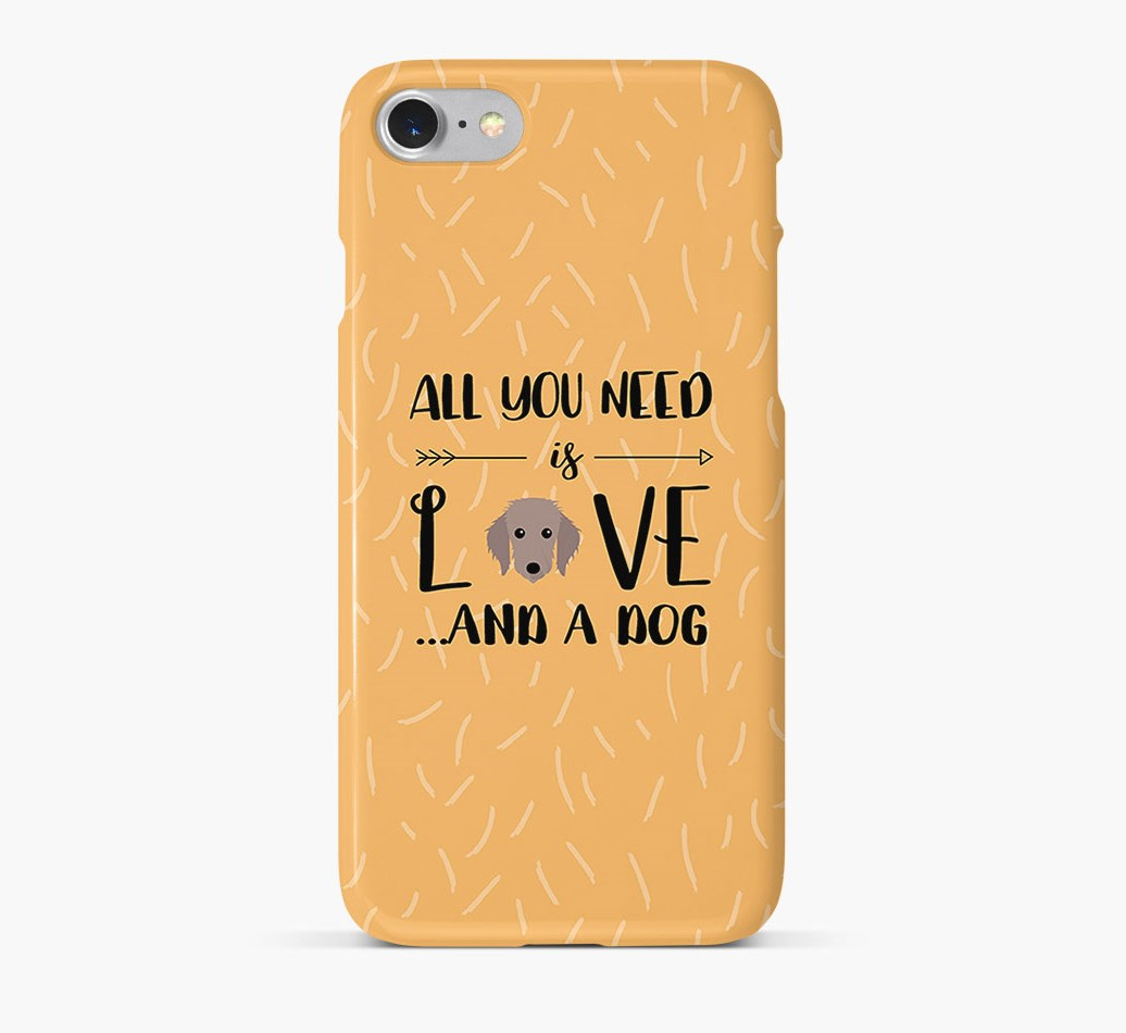 'All You Need is Love' Phone Case with Bedlington Whippet Icon
